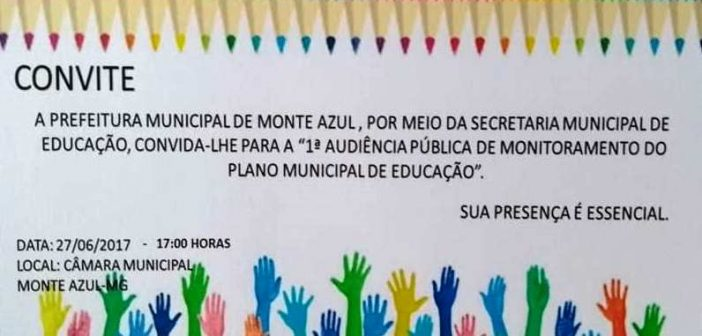 1ª Audiência Pública de Monitoramento do Plano Municipal de Educação