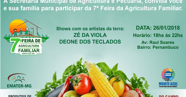 7ª Feira da Agricultura Familiar