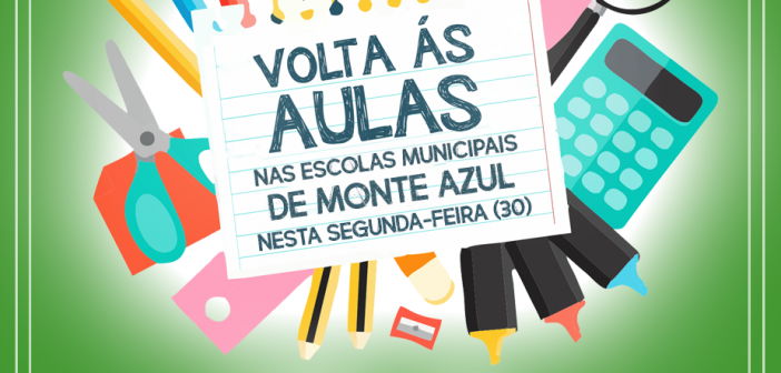 Aulas nas escolas municipais retornam nesta segunda-feira (30)