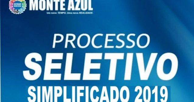 EDITAL PROCESSO SELETIVO SIMPLIFICADO Nº 001/2019