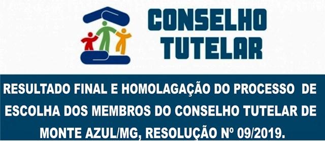 RESULTADO FINAL E HOMOLOGAÇÃO DOS MEMBROS DO CONSELHO TUTELAR