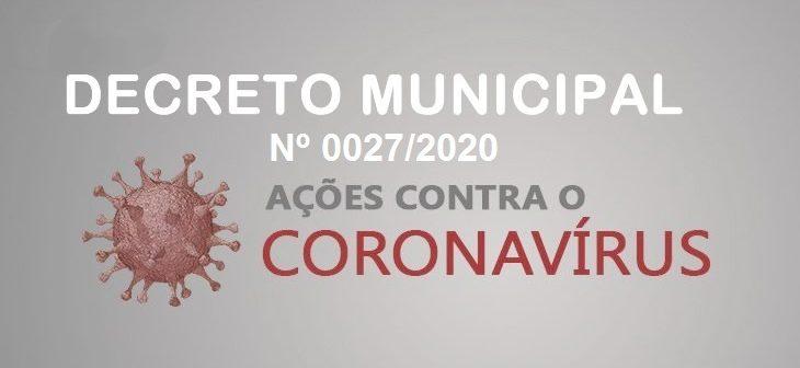 PREFEITURA DE MONTE AZUL EMITE DECRETO Nº 0027/2020