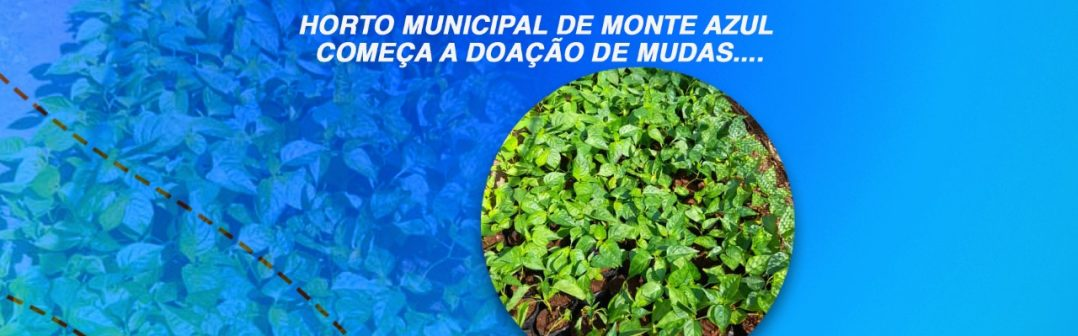 Horto Municipal de Monte Azul começa a doação de mudas.